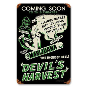 Devil's Harvest Metal Sign -