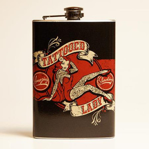 Tattooed Lady Flask-OUT OF STOCK -