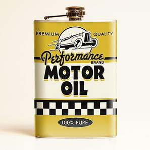 Motor Oil Flask - OUT OF STOCK! - 0641938654585