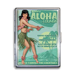 Bettie Page Aloha Lounge Cigarette Case - LAST ONE!