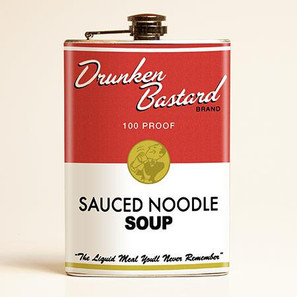 Drunken Bastard Soup Flask-LAST ONE -
