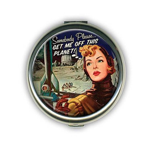 Get Me Off This Planet Compact Mirror-OUT OF STOCK -