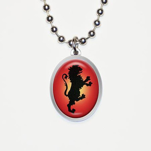 Regal Lion Charm Necklace