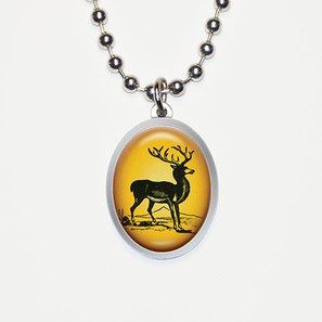 Noble Stag Deer Charm Necklace