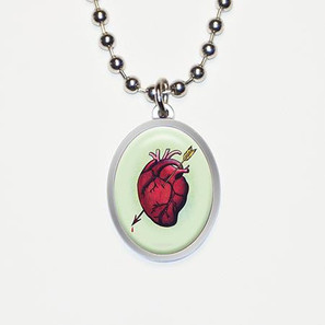 Eternal Love Heart Charm Necklace