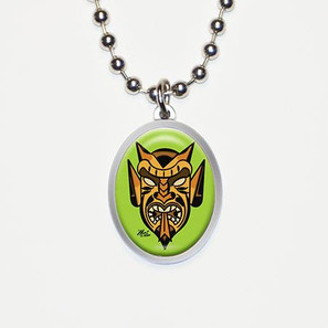 Devil Tiki Charm Necklace