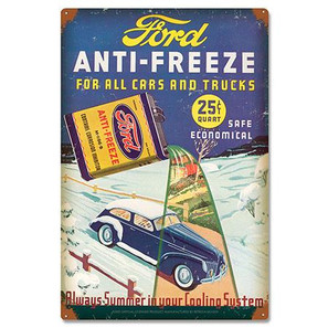 Ford Vintage Anti-Freeze Metal Sign -