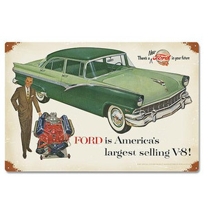 Ford 1956 Fairlane Metal Sign -
