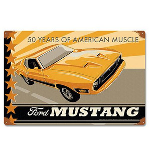 Ford 1973 Mustang Metal Sign -