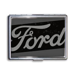 Ford Vintage Black Logo Cigarette Case