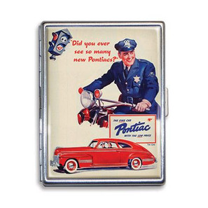 Pontiac Vintage Ad Cigarette Case