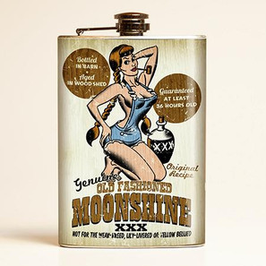 Old Fashioned Moonshine Flask-OUT OF STOCK -
