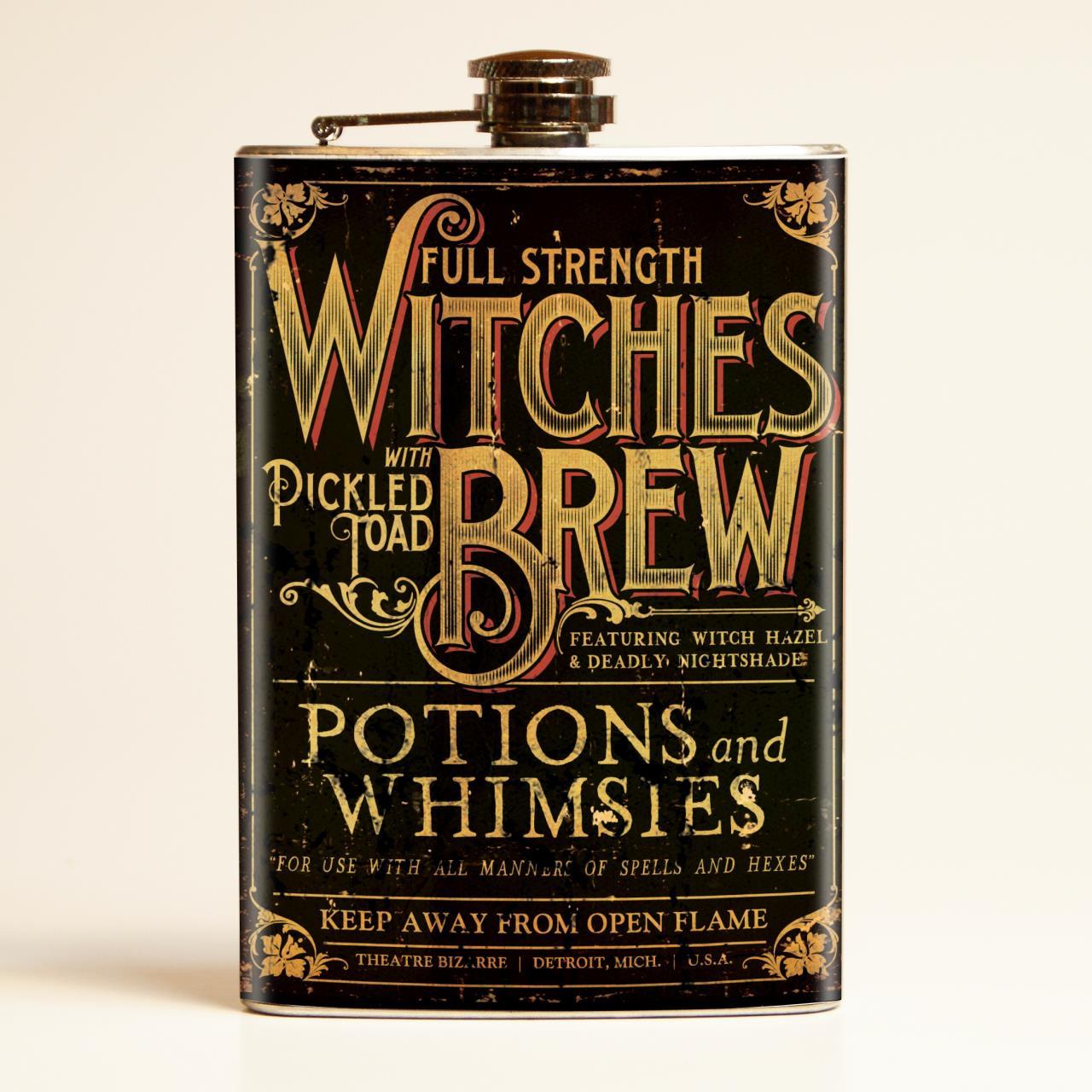 Theatre Bizarre Witches Brew Flask - Retro-a-go-go!