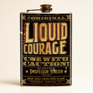 Theatre Bizarre Liquid Courage Flask - OUT OF STOCK!