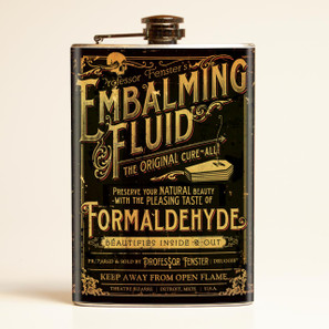 Theatre Bizarre Embalming Fluid Flask-OUT OF STOCK -
