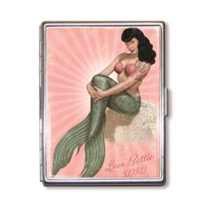 Bettie Page Mermaid Bettie Cigarette Case