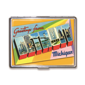 Greetings from Detroit Cigarette Case - LAST ONE!
