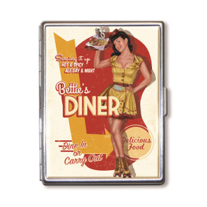 Bettie Page Bettie's Diner Cigarette Case