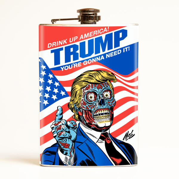 Drink Up America! Trump Political Flask - OUT OF STOCK! -
