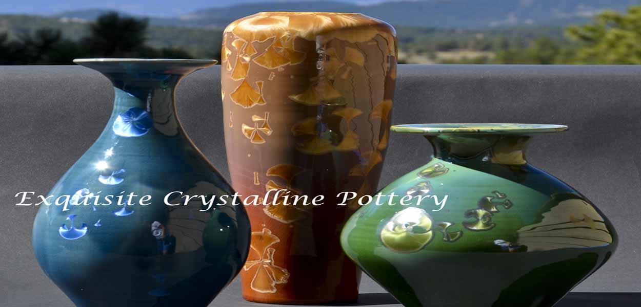 handmade crystalline pottery