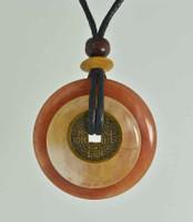 Earth & Art Pendant Stone Jewelry - Butterscotch Jasper & Red Aventurine