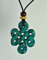 "Celtic Knots Pendant Stone Jewelry - African ""Turquoise"" Jasper"