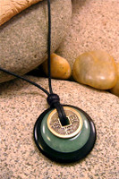 Earth & Art Pendant Stone Jewelry - Black Jasper & Green Aventurine