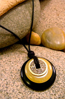Earth & Art Pendant Stone Jewelry - Black Jasper & Butterscotch Jasper