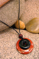 Destiny Duo Stone Pendant Stone Jewelry - Red Jasper & Black Jasper