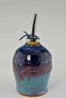 Handmade Pottery Oil Bottle in Fiesta Glaze