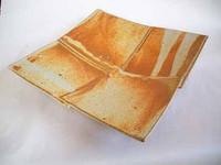 Handmade Pottery Four Square Platter - Butternut
