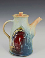 "Handmade Porcelain Teapot 7.5"" in Blue Crystal"