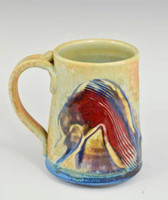 "Handmade Porcelain Mug 4"" in Blue Crystal Glaze"