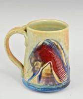 """Handmade Porcelain Mug 4"""" in Blue Crystal Glaze"""