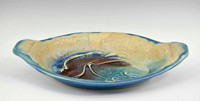 Handmade Porcelain Oval Ramekins in Blue Crystal Glaze