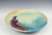 Handmade Porcelain 14 Inch Platter in Blue Crystal
