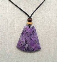 Rock Art Polished Stone Pendant Jewelry, Purple Agate