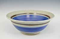 "Handmade Pottery Medium Bowl 11"" Old Republic - side"