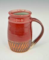 Handmade Red Chatter Mug 14 oz