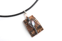 Tessoro Freshwater Pearl, Hematite and Birchbark 17 in. Necklace