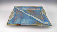 Handmade Pottery Large Square 11.5 in. Tray