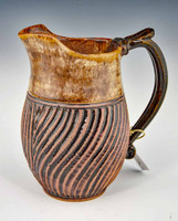 Hand Carved Medium Pitcher Gold Design 30 oz