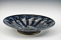 Medium Kaleidoscope Bowl 10 in. Black Graphite Glaze