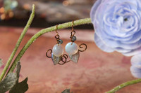 White Moonflower Earrings