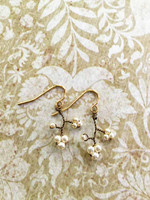 Antique Bronze Dogwood Earrings