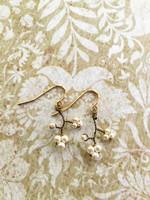 Antique Bronze Dogwood Earrings