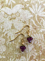 Concerto Crystal Cluster Earrings - Amethyst
