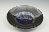 Black Plate w blue spiral design