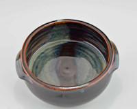 Stoneware Baking Dish in Blue & Brown Glaze