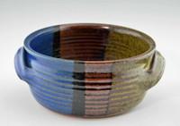Handmade Pottery 2 Qt Baking Dish w Handles in Storm Glaze